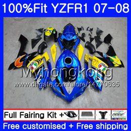 Discount yamaha r1 body kit black - Injection Body For YAMAHA YZF R 1 YZF 1000 YZFR1 07 08 227HM.0 YZF R1 07 08 YZF1000 YZF-1000 YZF-R1 2007 2008 Fairing Ki