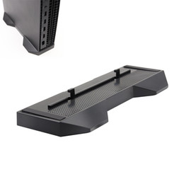 Xbox Pads NZ - For Xbox One X OneX Game Console Vertical Stand Bed Foundation Mount Bracket Support Base Holder W  Anti-slip mat Protection Pad