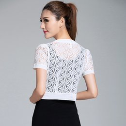 Jacken & Mäntel 2017 Frauen Top Spitze Shirt Frauen Sommer Mode Frauen Kleidung Wilde Plus Größe Spitze Blusen Schwarz Beige Weiß Farbe 802e 30