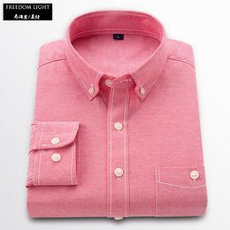 $enCountryForm.capitalKeyWord Canada - Mens Dress Shirts Long-sleeved Oxford Solid Shirt Men Slim Fit Cotton Shirts Top Quality Casual Men Shirt Asian Plus Size M-5XL