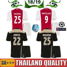 93337b0000d 2018 aduit kit Ajax Home soccer Jersey KLAASSEN DOLBERG MELIK DIJKS EL  GHAZI YOUNES Top quality 18 19 Jerseys football shirts top quality