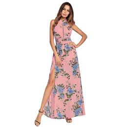 $enCountryForm.capitalKeyWord Canada - High quality Women's Fashion Sexy party Dress Open fork backless printed chiffon dresses Sexy dress sequins Bodycon Long beach dress 2color