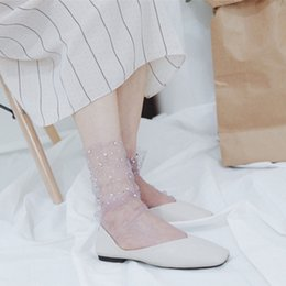 $enCountryForm.capitalKeyWord NZ - Korean Fashion Lace Socks for Women 2017 New Mesh Tulle Loose Female Socks Chiese Cheap Crystal Silk Sock Thin Diamond Calcetine
