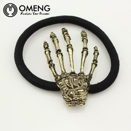 $enCountryForm.capitalKeyWord Australia - OMENG Women Girls Punk Skeleton Hand Bone Claw Hairpin Zombie Skull Horror Hair Clip Barrette Halloween Party Accessories OFS025