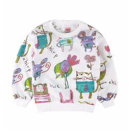 Cotton Jersey T Shirts Wholesalers NZ - Animal Children Sweatshirt Girls Sweater Cotton Cartoon Kids Pullover Outfit Tops T-Shirts Girl Jumper 2-7Years Jersey Blouse