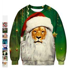 $enCountryForm.capitalKeyWord Canada - Santa Claus 3D digital printing t shirt women and men loose designer tee shirt femme clothing long sleeve Christmas costume t shirts
