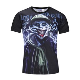 Chinese  Summer 3D Printed T Shirt Men's Beach Tshirt Clown Printing 3d T-Shirt M-3XL plus size tops & tees BL-415 manufacturers