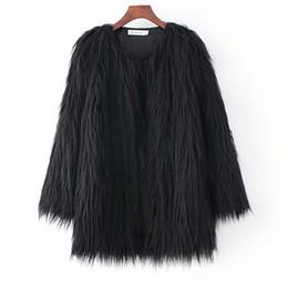 Ladies imitation fur coats online shopping - Fur one wild thick warm women s winter new street shoot coat ladies elegant long hair imitation fur loose women jacket coat