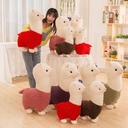 AlpAcA soft toys online shopping - 28cm inches Llama plush Arpakasso Stuffed Animal Alpaca Soft Plush Toys Kawaii Christmas present KKA7514