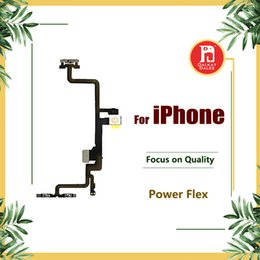 Discount iphone power volume button flex Power Button On Off Flex For iPhone 5 5S 5C SE 6g 6S 6s Plus 7 PLUS 8 X Volume Mute Switch with Metal Lock
