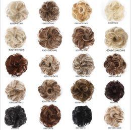 Wholesale New Arrive Synthetic Hair Bun 35g Elastic Curl Hair Scrunchie Summer Hot selling Women Fake Hair Bun WQ541G from snake flowers suppliers