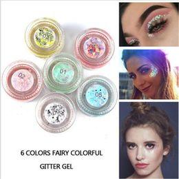 Discount glitter face art - HANDAIYAN Shine Shimmer Eyeshadow Gel Makeup Glitte body art glitter gel face eye tattoo powder DHL free shipping