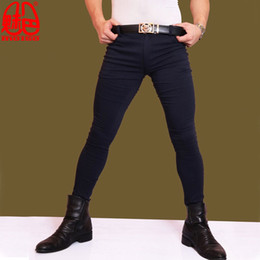 $enCountryForm.capitalKeyWord NZ - Sexy Men Fashion Jeans Elastic Pencil Pants Casual Soft Comfortble Tight Trousers Erotic Lingerie Club Gay Wear Plus Size F73