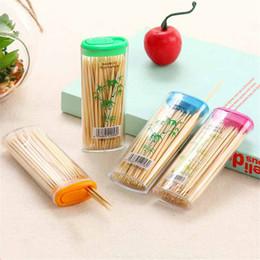 $enCountryForm.capitalKeyWord Australia - 6 boxes 300pcs 7.5cm Portable Toothpicks Plastic Eco-friendly No Smell Toothpick plastic+wooden