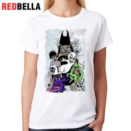 Gothic Style Clothes Australia - Women's Tee Redbella Women Tops Gothic Style Mystical Totoro Paranormal Ghosts Haunted Poleras De Mujer Moda Printed Woman Clothes Tee Shirt