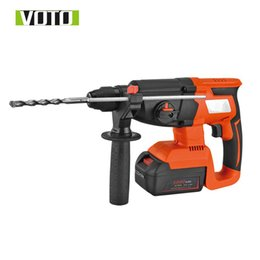 Tools For Drill Australia - VOTO High-power DC Lithium Rechargeable Multi-function Electric Hammer Drill 42V 5000mAh 1100rpm for Industrial Manufacture Tool