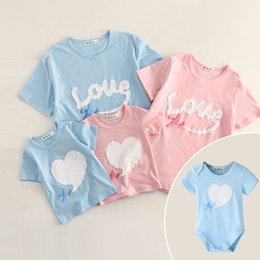 Match Clothing Mom Baby NZ - Family Matching Outfits Clothies T-shirt Summer New Mom Dad Baby Boy Girl Print Letter Heart Short Sleeve T-shirt Kid Cotton Clothing