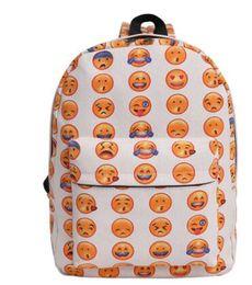 de3051d3cd Boys Casual Emoji Face Printing Mochila Escolar Smiley Pattern School Bags  For Teenagers Girls Smiling Custom Backpack Bookbags
