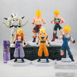 Discount dolls action - Dragon Ball Action Figures Toys cartoon Anime 54 generations 6 styles Goku Siah Dolls model Desktop Decoration C4389