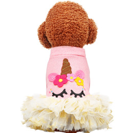 $enCountryForm.capitalKeyWord UK - Dog Rompers New Originality Dogs Dresses Outdoor Clothes Pet Apparel Sweatshirts Unicorn Pets Supplies Cheap Wholesale