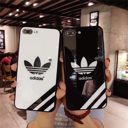 Keyboard case cover phone online shopping - Luxury brand fashion tempered Glass Phone Shell Case For Iphone s plus X Famous Brand Phone Back Case