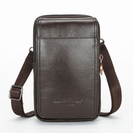 Brown Waist bag Men First Layer Cowhide Genuine Leather Crossbody Shoulder  Bag New Belt Fanny Pack Purse Pouch Cell Phone Case 6e5e3ad2e77c5