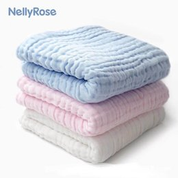 gauze towels NZ - Newborn 100% Cotton Baby Blanket Infant Muslin Kids Soft Bath Shower Towel Baby Gauze Swaddle Receiving Blankets 110cm*110cm