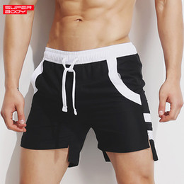 swimsuit legs 2019 - Men's Shorts 2018 Man summer casual quick dry loose trouser beach shorts Swimsuit personality Leg part fork irregul