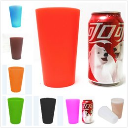 $enCountryForm.capitalKeyWord NZ - Silicone cup Unbreakable 13oz 350ml Foldable Red wine cups Clear Rubber Wine Glass Barbecue camping portable Juice Cooffee Mugs DHL