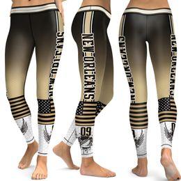 Thread needles online shopping - New Design American D Printed High Waist Needle Thread Football Team Leggings Women New Orleans City Fitness Yoga Sport Leggings
