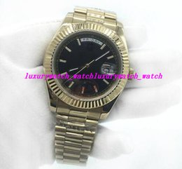 $enCountryForm.capitalKeyWord Australia - Luxury Watch Brand 18K Gold Day Date Mens Watch Stainless Steel Bracelet Roman Number Sapphire Cystal Men Watches Wristwatches