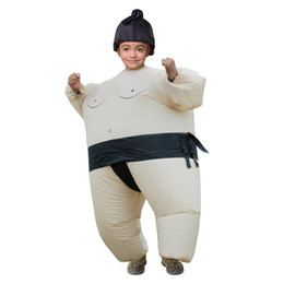 funny inflatable costumes 2019 - Men Women Halloween Cosply Costumes Funny Sumo Wrestler Big Guy Inflatable Clothing Male Female Party Mascot Costumes di
