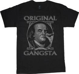 Tall Tee Men Canada - big and tall t-shirt Benjamin Franklin Gangster tee shirt tall shirts for men Men'S T-Shirts Summer Style Fashion Swag Men T Shirts.