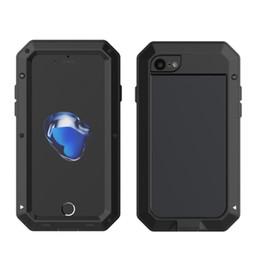Aluminum Glass Iphone Case Australia - Luxury Doom Armor Aluminum Shockproof Dropproof Metal Case For iPhone X XS MAX XR 8 7 6S Plus Gorilla Glass Aluminum Cover