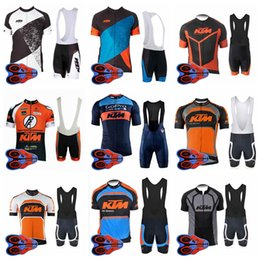Ktm Clothes Australia - KTM 2018 Cycling Jersey Sets Mens short sleeve Jersey And bib Shorts MTB Bike Bicycle Clothing Maillot Ciclismo 92715J