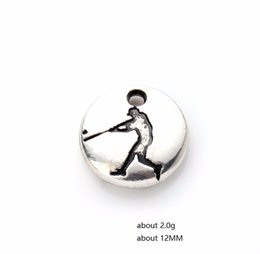 $enCountryForm.capitalKeyWord Australia - New Arrival 12mm Round Gymnastic Disc Charms Sports Baseball Players Charm Fit For Bracelets Necklaces Making