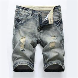 8091f702714a7 Plus Size Capri Jeans UK - New Vintage Men s Jeans Capri Fashion Baggy Jeans  Shorts Men