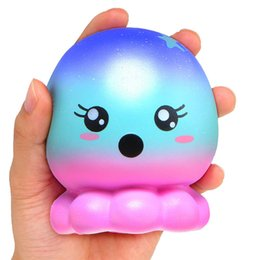 Computer kids online shopping - 2018 Squishies rare kawaii squishy jumbo Octopus slow rising squishy with package kids toy gifts scented bread