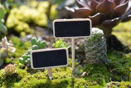 Wholesale Moss Micro Landscape Ornaments Mini Wooden Blackboard Creative Label DIY Fleshy Plant Pot Bonsai Decoration Small Fairy Garden Accessories