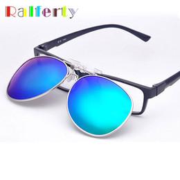 6c2125eca6 Discount polarized mirrored clip sunglasses - Ralferty Pilot Mirrored  Polarized Clip On Sunglasses Men Women Flip
