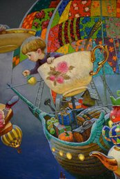 $enCountryForm.capitalKeyWord Australia - Victor Nizovtsev Oil Painting Fantasy Mermaid series Art Reproduction Giclee Print on Canvas Modern Wall Home Art office Decoration VN083