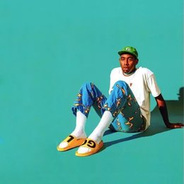 d5fba504e5c8ec Golf Wang NZ - 18ss Golf Wang BLUE FIRE Pants Street Pants Casual Loose  Causal Trousers