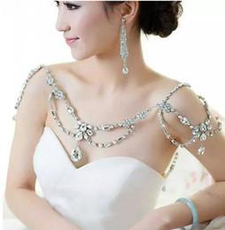 $enCountryForm.capitalKeyWord NZ - Fashion Charm Wedding Bridal Bridesmaid Ladies Flowers Crystal Rhinestone Shoulder Full Body Chain Necklace Jewelry Set Dress Wrap Jacket 2