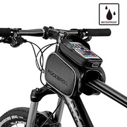 $enCountryForm.capitalKeyWord NZ - Cycling Bike Top Tube Bag Rainproof MTB Bicycle Frame Front Head Cell Phone Touch Screen Bag Pannier Bike Accessories
