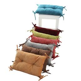 Green Office Chairs UK - Thick Cushion Mattress Sofa Office Chair Cushion Home 28*48cm Rectangle Soft Comfortable Cushions for Chair Floor Room Decor Corduroy Pad