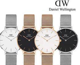 c7429298ca2 Nova Marca Assista Casais dos homens e das Mulheres 32mm 36mm e 40mm  Pulseira De Aço Inoxidável Marca de Luxo Rose Gold Quartz Relógio de Moda