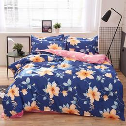 Dark Linen Sheets NZ - Home Textile Autumn Dark -Color Flower Series Bed Linens 4pcs Bedding Sets Bed Set Duvet Cover Bed Sheet Mans Cover Set