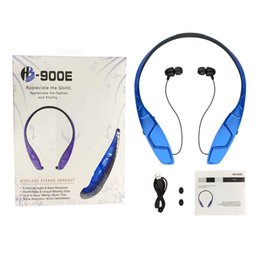 bluetooth types 2019 - HB-900E Sports Bluetooth Headset Wireless Headphone Neck Hanging Type Earphone Bluetooth Stereo Earpiece with Retail Box