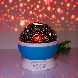 Mais recente Rotação Noite Luz Estrela Estrelada Céu Da Lua Romântico Noite Projetor Night Light para festa de casamento de natal venda por atacado
