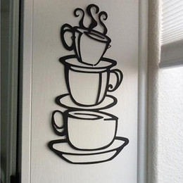 House Home Kitchens Australia - wall stickers home decor Removable DIY Kitchen Decor Coffee House Cup Decals Vinyl Wall Sticker muurstickers pegatinas de pared